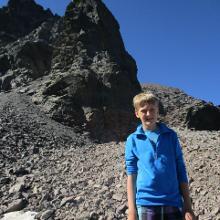 Auf dem Weg zum Gipfel des Monte Cintu