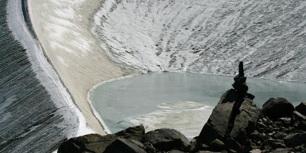 Gletschersee am Weg zum Hinteren Daunkopf