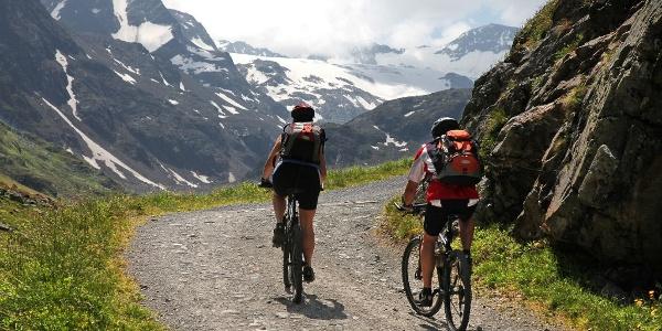 Bikestrecke kurz vor Erreichen der Huette