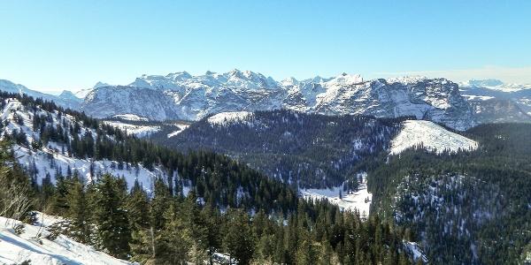 Ausblick vom Lattengebirge zur Reiter Alm