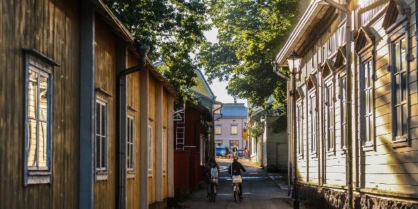Old wooden buildings in Ekenäs