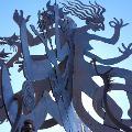 Metallskulptur beim Predigtstuhl