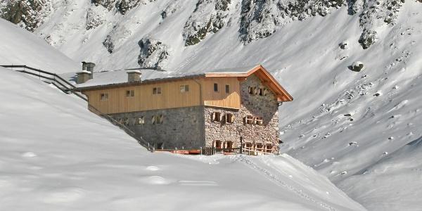 Amberger Hütte im Winter