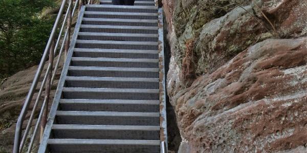 Aufstieg zum Wachtfelsen