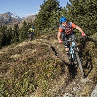 Biken in Flims