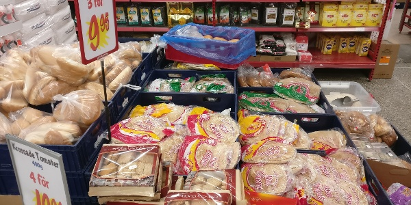 Always fresh-baked bread of various kinds, as well as cookies and cakes.
