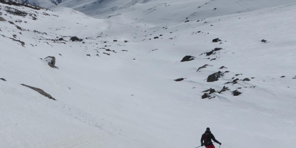 Ideales Abfahrtsgelände auch abseits des Gletschers