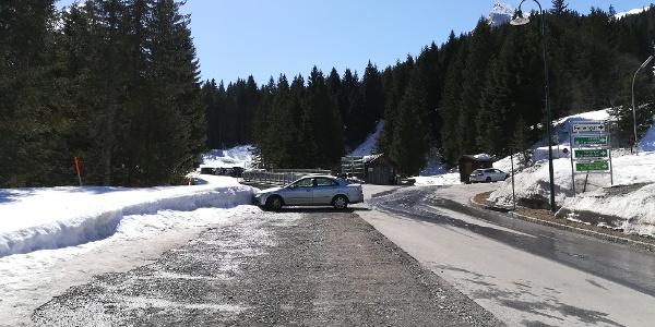 Parkplatz Gargellen nach der Schafbergbahn