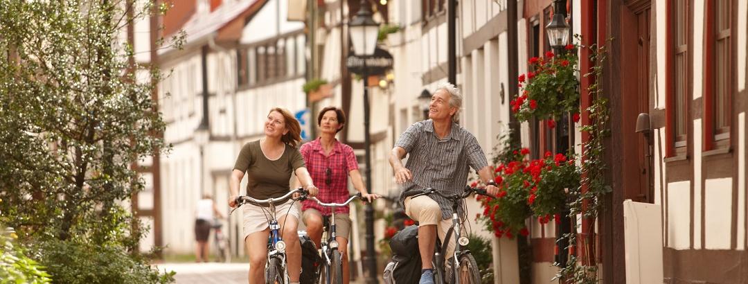 Radfahrer in Hameln