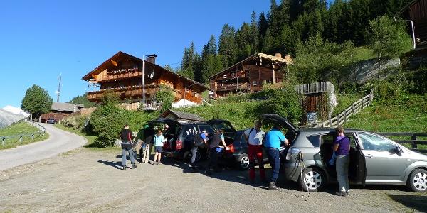 Parkplatz bei Berggasthof Jagastuben