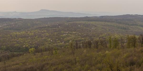 Panoráma a Csergezán Pál-kilátóból nyugat-északnyugat felé