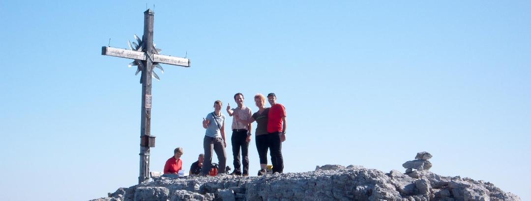 Auf dem Gipfel des Großen Ochsenhorns
