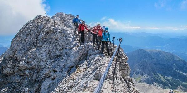 Wilde Klettersteige im Triglav Nationalpark in den Julischen Alpen in Slowenien