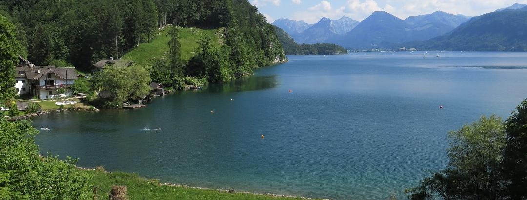 Der Wolfgangsee von St. Gilgen aus