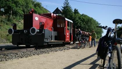 Lok am Bahnhof in Pronsfeld/kleines Museum