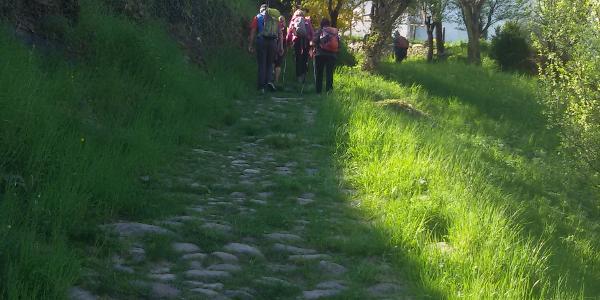 Aufstieg zur Trostburg