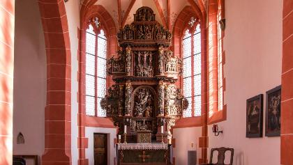 """Der Bitter-Leidens-Altar in der Wallfahrtskirche """"Mater Dolorosa"""" in Driesch"""