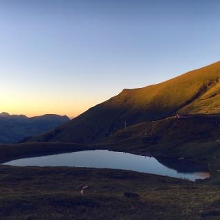 Lac d'Anthème at sunset