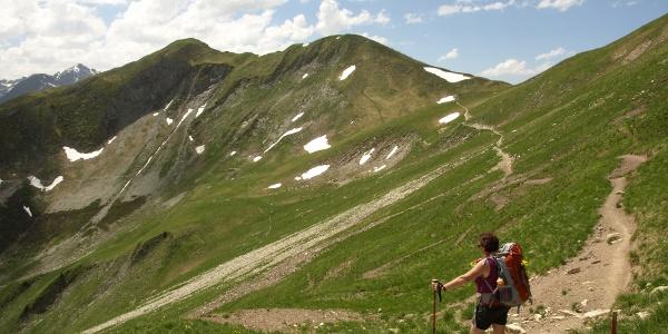 Auf dem Panoramaweg von der Jöchlspitze zur Bernhardseckhütte