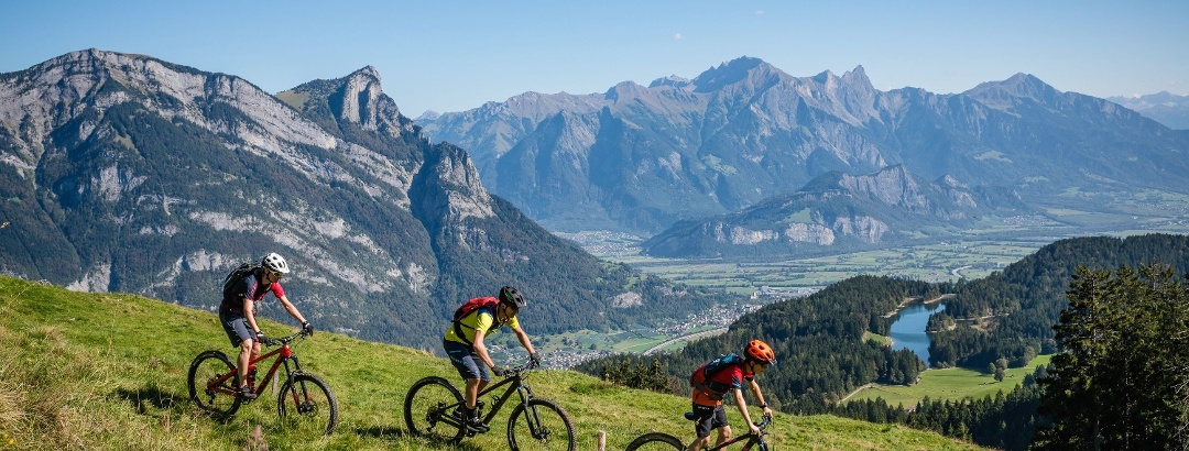 Abwechslungsreiche Mountainbike Trails in der Ferienregion Heidiland