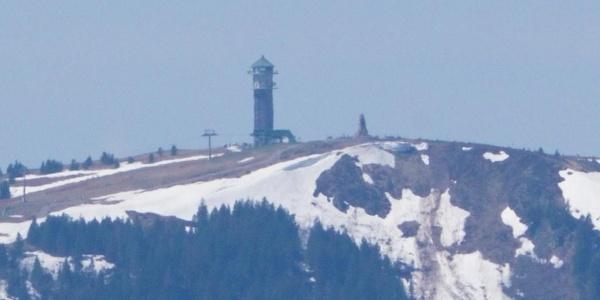 Blick auf den 14 km entfernten Feldberg