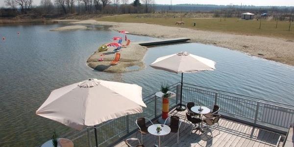 Mauerner Badesee in Neustadt an der Donau im Hopfenland Hallertau