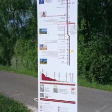 Streckenübersicht mit Bahnstation