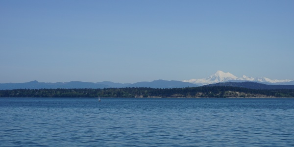 Mt. Baker from the ferry