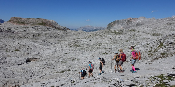 Gruppe Bergsteiger im zentralen Steinernen Meer
