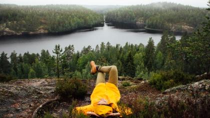 Relaxing in Repovesi National Park