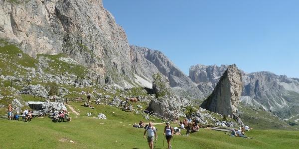 Ausblick auf der Pieralongia Alpe