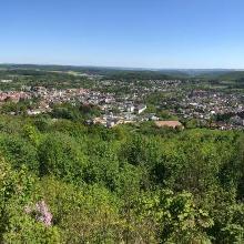 Panorama von der Iburg Richtung Weserbergland