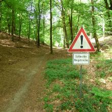 das dürfte höchsten Mountainbiker stören, für Wanderer problemlos