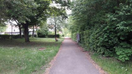 Start der Wanderung, Parkweg Hofäckerweg