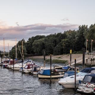 Kleiner Hafen an der Weser, Sandstedt