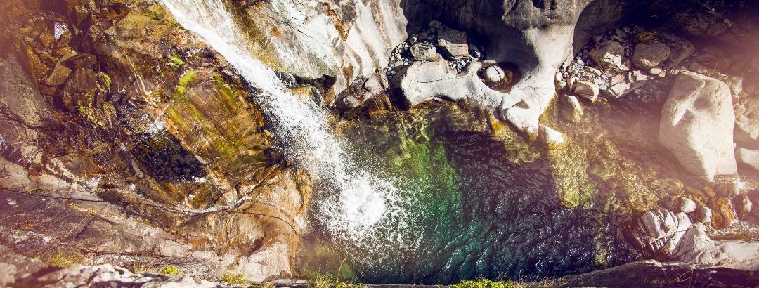 Wasserfall in der Triège Schlucht