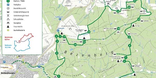 Karte Herzog-Jäger-Pfad