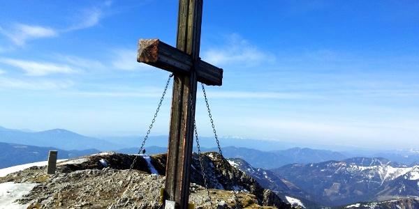 Am Gipfel der Hohen Veitsch