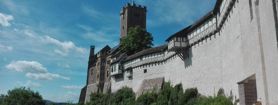 Wartburg Eisenach Außenansicht Sommer
