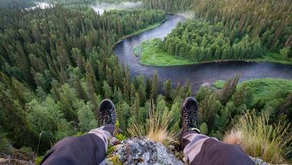 View of Kitka river at Oulanka National Park
