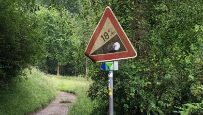 18% Steigung müssen Richtung Schönbühl überwunden werden.
