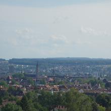 Blick vom Bismarck-Turm auf die Altstadt von Konstanz