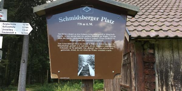 Infotafel am Schmidsberger Platz