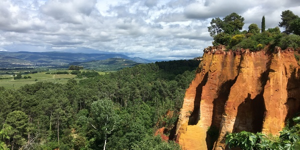 Ochre cliffs of Roussillon