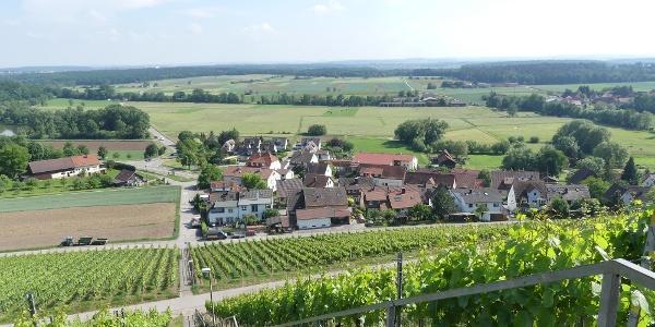 Blick vom Panoramaweg auf die Kirchbergstaffel