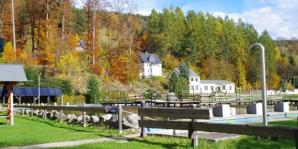Saisonende im Öko-Bad Rechenberg-Bienenmühle