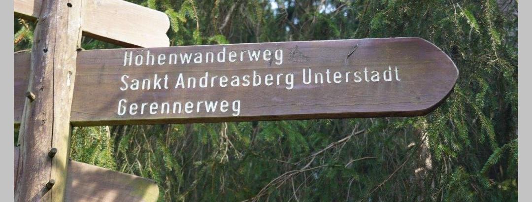 Wegweiser Höhenwanderweg | Foto: S. Grüning