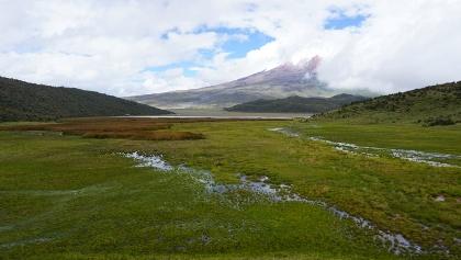 Cotopaxi across the lagoon
