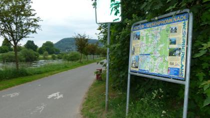 Wegführung an der Weser
