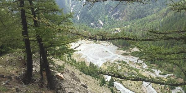 Blick zum Gletschersee